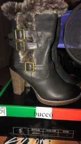 Black bucco jaiyace boots in Fort Bliss, Texas