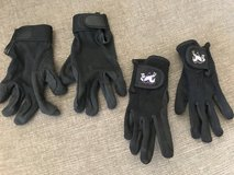 girls-black riding gloves sz Sm, two pairs in Kingwood, Texas