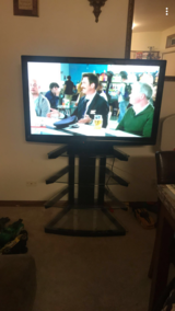 """55"""" TV W/STAND WORKS GREAT in Plainfield, Illinois"""