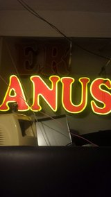 neon anus sign in Barstow, California
