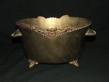 Vintage Ornate Footed Brass Ice Bucket Planter Container in Westmont, Illinois