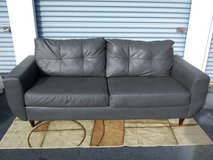Standard Furniture Leather Couch - Gray in Warner Robins, Georgia