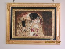 The Kiss by Klimt Italian tapestry in Okinawa, Japan