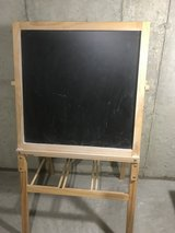 Double-Sided Easel, Dry Erase & Chalkboard Surfaces, Floor Standing - Wood in Bartlett, Illinois