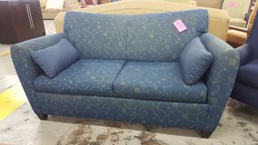 Blue pattern couch in Camp Lejeune, North Carolina