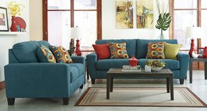 ASHLEY SAGEN TEAL SOFA LOVESEAT in Schofield Barracks, Hawaii