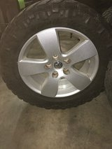 5 lug Dodge wheels with 295-55-20 Mud Tires in Fort Polk, Louisiana