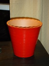 red glazed clay pot in Glendale Heights, Illinois