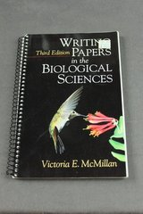 Writing Papers for the Biological Sciences Spiral Bound Third Edition in Kingwood, Texas