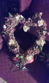 homemade heart/flower wreath in Algonquin, Illinois