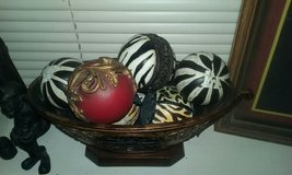 decorative zebra and assortment balls and holder in Algonquin, Illinois