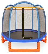 kids 7 ft enclosed trampoline in Baytown, Texas