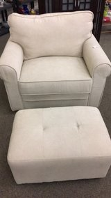 White Chair and Ottoman (Set) New in Fort Leonard Wood, Missouri