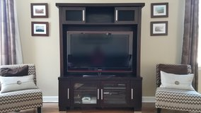 TV stand with hutch - espresso finish in St. Charles, Illinois