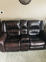 Leather Recliner Sofa in Tinley Park, Illinois