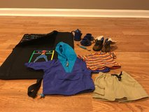 Amercan Girl Hiking Outfit,  Camping Dishes And Sleeping Bag in Glendale Heights, Illinois
