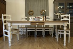 Beautiful Large Farmhouse Table and Six Fantastic Chairs Amazing Shabby Chic Dining Set! in Ramstein, Germany