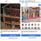 Wooden doll house in Fort Knox, Kentucky