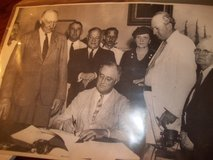 PRESIDENT ROOSEVELT SIGNING SOCIAL SECURITY ACT in Warner Robins, Georgia