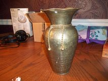 BRASS HAMMERED VASE FROM INDIA in Warner Robins, Georgia
