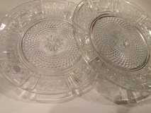 ROUND ORNATE GLASS PLATES in Chicago, Illinois