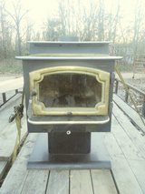A in side wood burning stove in Fort Leonard Wood, Missouri