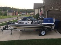 1997 Stratos bass boat and 70 hp Johnson and trailer in Clarksville, Tennessee