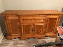 Solid oak China Cabinet and Hutch Price is For Both in Tyndall AFB, Florida