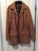 Mens Perry Ellis Leather coat in Orland Park, Illinois