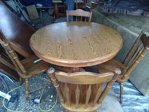 Dining room table with 4 chairs in Fort Leonard Wood, Missouri