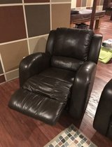 Brown Leather Recliner in Lockport, Illinois