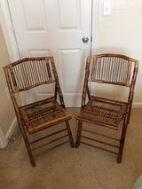set of four bamboo chairs in Beaufort, South Carolina