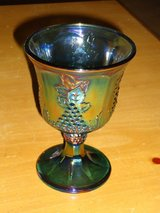 carnival glass goblet in Glendale Heights, Illinois