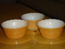 3 fire king custard cups in Glendale Heights, Illinois
