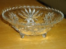 tri-foot cut glass bowl in Naperville, Illinois