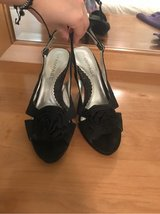 CUTE BLACK HEELS - SIZE 8 in Naperville, Illinois