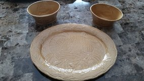 NWT: Thanksgiving Turkey Platter w/ 2 Serving Bowls in Fort Campbell, Kentucky
