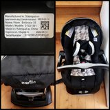 Evenflow car seat w/base in San Diego, California