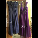 Navy blue  and purple maternity ball gown in Okinawa, Japan