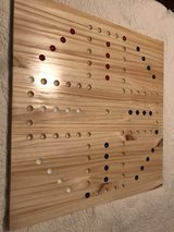New handmade wood  marble board with marbles in Baytown, Texas