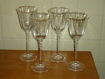 4 gold rim crystal glasses in Glendale Heights, Illinois
