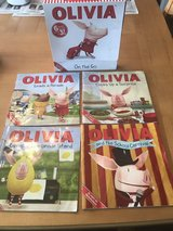 Four Olivia books & carrying case in Warner Robins, Georgia