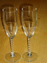 swirl stem champagne glasses in Naperville, Illinois