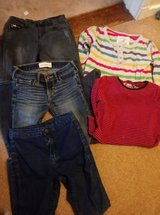 7-8 years girls jeans and clothes in Lakenheath, UK