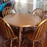 Solid Oat Table with 2 Leafs and 6 Matching Chirac with a Hutch in Cherry Point, North Carolina
