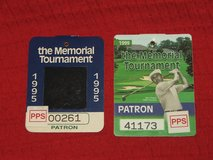 2 Memorial Golf Tournament Patron Badges '95 & '99 Tiger Woods Norman in Lockport, Illinois