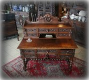 gorgeous antique desk with ornate carvings in Stuttgart, GE