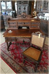 superb antique desk with ornate carvings in Ramstein, Germany