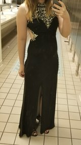 Beautiful Black Beaded Ball Gown Size 2 (Altered) in Camp Lejeune, North Carolina