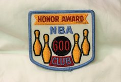 NEW Honor Reward 600 NBA National Bowling Association Embroidered Patch White Red in Kingwood, Texas
